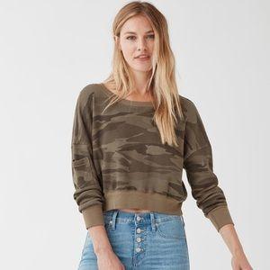 Splendid Camo Academy Sweatshirt